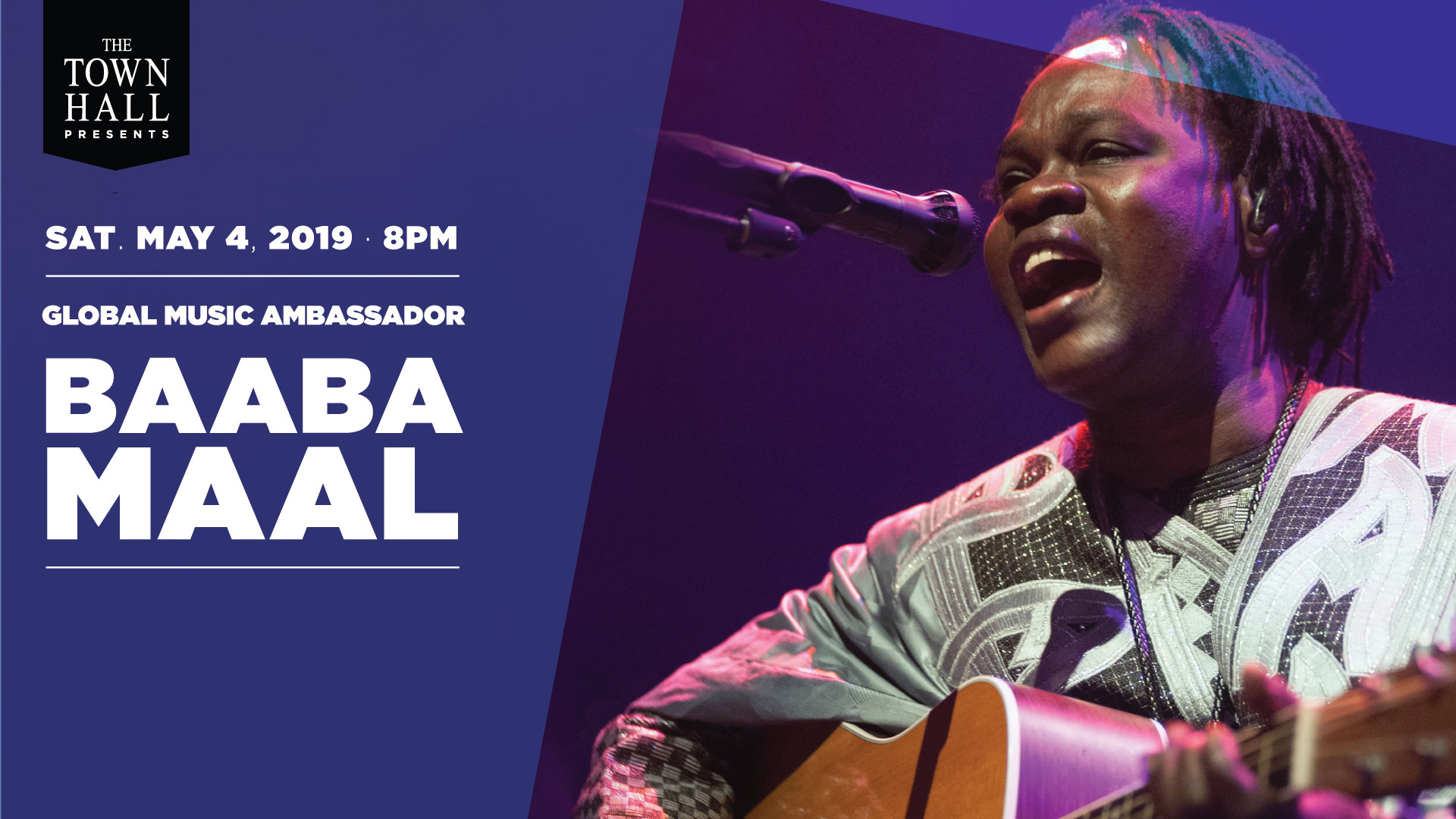 Baaba performing at The Town Hall in NYC